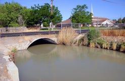 Canal da irrigação Fotos de Stock