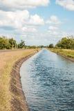 Canal da irrigação Imagem de Stock Royalty Free