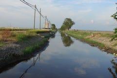 Canal da irrigação Fotos de Stock Royalty Free