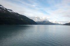 Canal da passagem de Whittier Alaska Foto de Stock