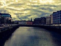 Canal dans le liège, Irlande Photographie stock