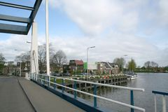 Canal dans le purmerend Image stock