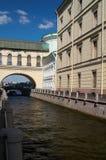 Canal dans le saint Petersberg Images libres de droits