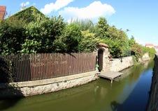 Canal de água em Jindrichuv Hradec Imagem de Stock Royalty Free