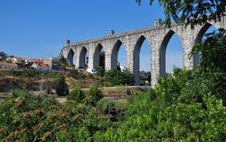 Canal de agua antiguo de Lisboa Imagen de archivo libre de regalías