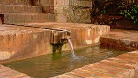 Canal de agua y baisin, detalle del palacio de Alhambra Fotos de archivo