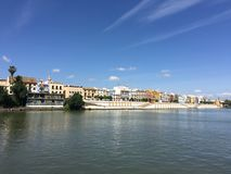 Canal de Alfonso XIII. House at the Canal de Alfonso XIII in Seville Spain Royalty Free Stock Image