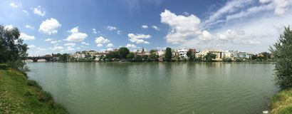 Canal de Alfonso XIII panorama Royalty Free Stock Photo