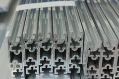 Canal de alumínio expulso imagem de stock