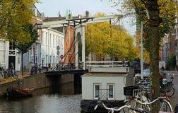 Canal de Amaterdam Foto de archivo