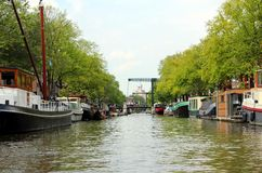 Canal de Amsterdão Fotos de Stock