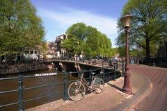 Canal de Amsterdão Foto de Stock Royalty Free