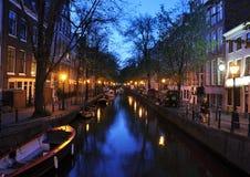 Canal de Amsterdam foto de archivo