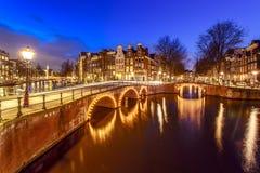 Canal de Amsterdam, los Países Bajos imágenes de archivo libres de regalías