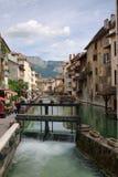 Canal de Annecy Imágenes de archivo libres de regalías