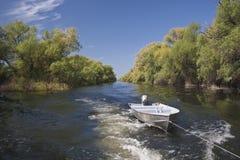 Canal de bateau Photo libre de droits