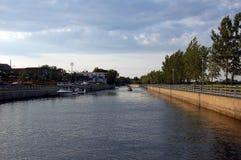 Canal de bateau Photos libres de droits