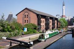 Canal de Birmingham imagen de archivo