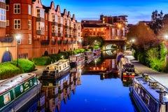 Canal de Birmingham Imagen de archivo libre de regalías