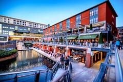 Canal de Birmingham, a caixa postal imagens de stock royalty free