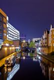 Canal de Birmingham, lugar de Brindley imagem de stock
