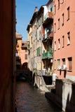 Canal de Bologna Images libres de droits