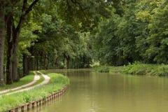 Canal DE Bourgogne, Frankrijk Royalty-vrije Stock Afbeeldingen