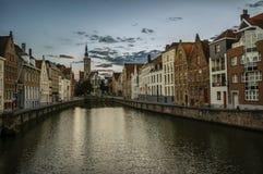 Canal de Bruges Imagem de Stock Royalty Free