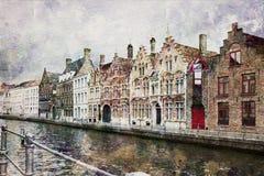 Canal de Bruges, Belgique Photo stock