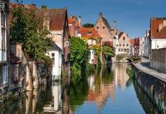 Canal de Brujas, Bélgica Fotografía de archivo