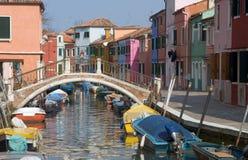 Canal de Burano, Veneza foto de stock