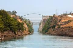 Canal de côté nordique de Corinthe Photographie stock