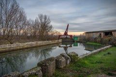 Canal de Castile foto de stock royalty free