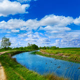 Canal de Castilla Channel by Saint James Way Royalty Free Stock Photography