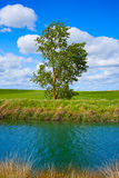 Canal de Castilla Channel by Saint James Way Royalty Free Stock Images