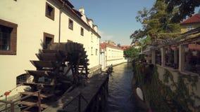 Canal de Certovka | Praga almacen de metraje de vídeo