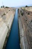 Canal de Corinth Imágenes de archivo libres de regalías