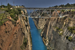 Canal de Corinth Imagem de Stock Royalty Free