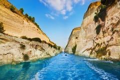 Canal de Corinth en Grecia Foto de archivo libre de regalías