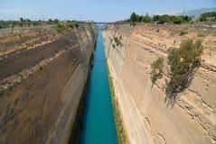 Canal de Corinthe image stock