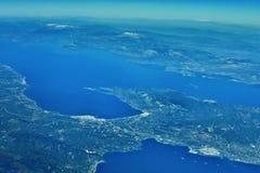 Canal de Corinthos Fotos de archivo libres de regalías