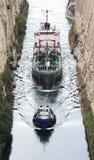 Canal de Corinto Imagen de archivo libre de regalías
