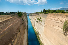 Canal de Corinto foto de archivo