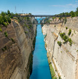 Canal de Corinto foto de archivo libre de regalías