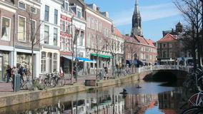 Canal de Delft, Hollande banque de vidéos