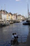 CANAL DE DENMARK_NYHAVN Photos libres de droits