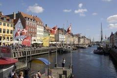 CANAL DE DENMARK_NYHAVN Images libres de droits