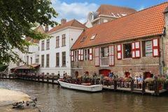 Canal de Dijver Bruges belgium Images stock