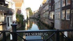 Canal de Dordrecht Photographie stock