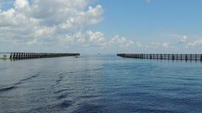 Canal de envío del río St Johns Astor Florida Imagen de archivo libre de regalías